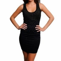 Alexia -- Black Studded Dress
