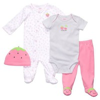 Carter's Cuddle Me Anytime Outfits - Strawberry-3 Months