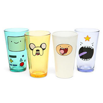 Adventure Time Face Pint Glass Set