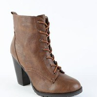 Black Poppy Lace Up Heel Boot - PacSun.com