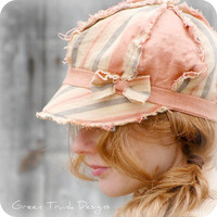 Chic Beach Linen Newsboy Hat by GreenTrunkDesigns on Etsy