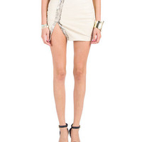 Snake Print Leather Mini Skirt | 2020AVE