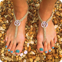 OHM Hemp Barefoot Sandals- Just in time for SUMMER- Jewelry for your feet