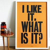 ReForm School: I Like It by Anthony Burrill