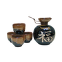 5 piece Japanese Kanji Sake Set (4 cups &amp; 1 bottle)