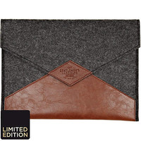 Brown and grey color block tablet case - gadgets - gifts - men