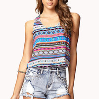 Tribal Print Crop Top