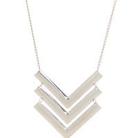 Silver Chevron Necklace | Hot Topic