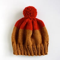 Weekender Hat in Red & Honey  MADE TO ORDER by helloquiettiger