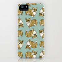 Corgi pattern iPhone & iPod Case by Neonflower*