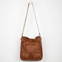 T-SHIRT & JEANS 2 Pocket Front Zip Hobo Bag