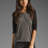 MONROW Mock Twist Granite Rock Tee in Dusty from REVOLVEclothing.com