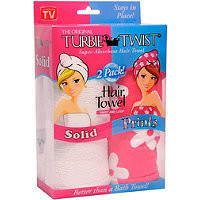 Turbie Twist Turbie Twist Hair Towel 2 Ct Ulta.com - Cosmetics, Fragrance, Salon and Beauty Gifts