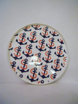 vintage nautical tray  anchors away by livingstonandporter on Etsy