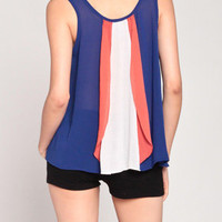 Wave Our Flag Tank in Blue