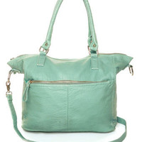 Mint Handbag - Vegan Leather Purse - $42.00