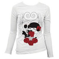 Dead Wed Wedding Maytee Bringas Tattoo Skulls Women&#x27;s Thermal T Shirt