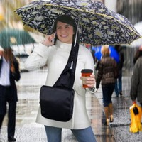 HANDS-FREE UMBRELLA MESSENGER BAG - STAY DRY WITHOUT HAVING TO HOLD YOUR UMBRELLA (BLACK):Amazon:Sports & Outdoors