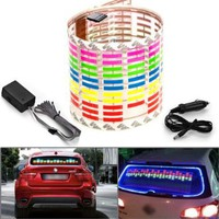 45x11cm DC 12V Sound Sensitive Music Beat Activated Car Sticker Equalizer Glow Colorful LED Light with Car Cigarette Charger Universal Decoration:Amazon:Car Electronics