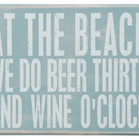 Coastal Cottage Box Signs | OceanStyles.com