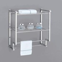 Organize It All Metro 2 Tier Wall Mounting Rack with Towel Bars:Amazon:Home & Kitchen