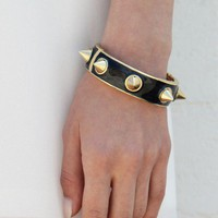 Hard Spike Cuff - Midnight
