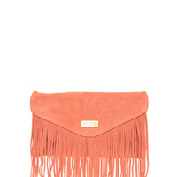 River Island | River Island Suede Fringe Clutch Bag at ASOS