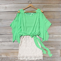 Sea Glass Lace Dress, Sweet Women's Party Dresses