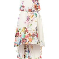 Bright Blossom Dip Hem Dress - Dresses  - Clothing  - Topshop
