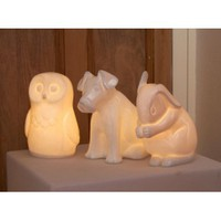 White Bone China Dog Lamp | Folly Home | Design-led Gifts, Home wares, Vintage Finds