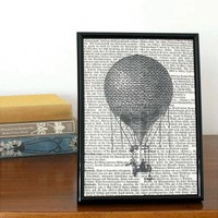 Hot Air Balloon Book Print | Folly Home | Design-led Gifts, Home wares, Vintage Finds