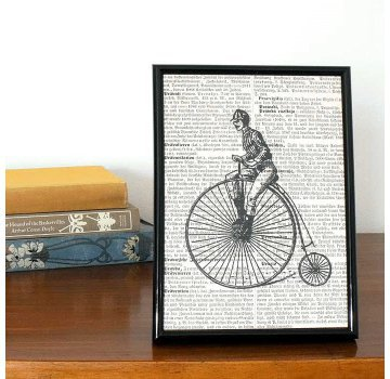 Penny Farthing Book Print | Folly Home | Design-led Gifts, Home wares, Vintage Finds