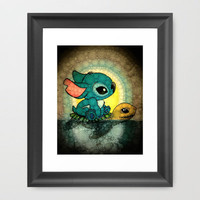 Swimming Stitch Framed Art Print by Alohalani