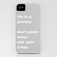 shit gets crazy iPhone Case by Romi Vega