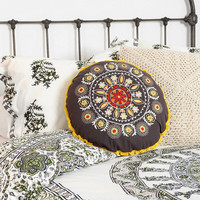 Urban Outfitters - Magical Thinking Round Embroidered Pillow