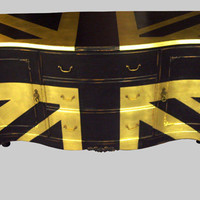 Jimmie Martin Ltd GOLD UNION JACK SIDEBOARD