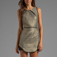 Finders Keepers Eclipse Dress in Gold Shimmer/ Black from REVOLVEclothing.com