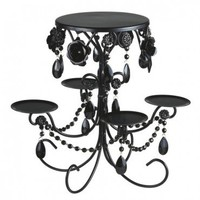Cake and Cupcake Stand Combo Black Wedding and Event Tabletop Decor