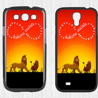 Hakuna Matata Samsung Galaxy S3 S4 Case,Infinity Lion king Galaxy S3 S4 Hard Case,cover skin Case for Galaxy S3 S4,More styles for you