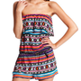 Charlotte Russe - Aztec Print Challis Romper