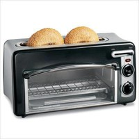 Toastation 2 Slice Toaster and Oven in Black