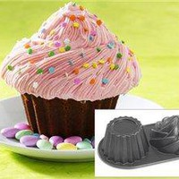 Giant Cute Cupcake Pan (6-c.) by Nordic Ware at Food Network
