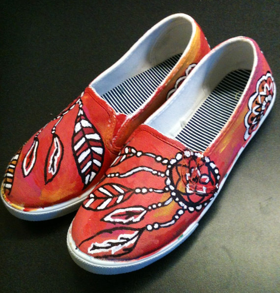 cij sale dream catcher shoes painted from the tasteful hooker