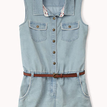 Sleeveless Denim Romper | FOREVER 21 - 2000050803