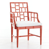Chinese Chippendale Chair - Poppy Red