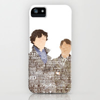 Sherlock Quotes iPhone & iPod Case by Alexandra Baker