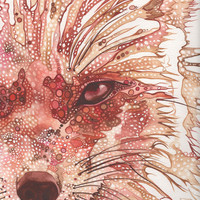 Rust Fox  4 x 6 print of hand painted by DeepColouredWater on Etsy