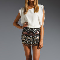 Parker Tribal Beaded Combo Dress in Metal from REVOLVEclothing.com