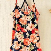Retro Flora Flexible Vest For Summer