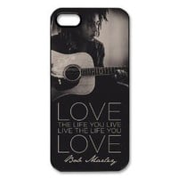 Bob Marley Hard Plastic Back Cover Case for iphone 5
